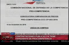 Contrataciones Publicas Ya Tiene Expediente De Pro Competencia