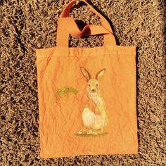 Bunny x Carrot bag dyed Orange