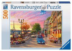 Ravensburger Puzzle - Paris By Night (500Pcs) (14505)  Manufacturer: Ravensburger Enarxis Code: 016097 #toys #puzzle #Ravensburger #Paris #France