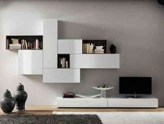 Home center wall shelves modern shelf style entertainment center with wall mounted media home centre wall Wall Mount Entertainment Center, Diy Entertainment Center, Ikea Wall, Tv Decor, Home Decor, Kids Room Organization, Modern Shelving, Media Center, Entertaining