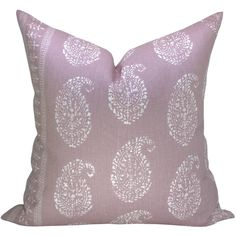 Kashmir Paisley Pillow Cover in white/lilac (87 CAD) ❤ liked on Polyvore featuring home, home decor, throw pillows, decorative pillows, home & living, home décor, silver, paisley home decor, lilac throw pillows and white home accessories