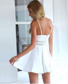 BEFORW Summer Stitching Lace Halter Suspenders Big Swing Party Dress Women Casual V Neck Beach Dress Sleeveless Mini Dress