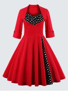 GET $50 NOW | Join RoseGal: Get YOUR $50 NOW!http://www.rosegal.com/plus-size-dresses/plus-size-vintage-polka-dot-828818.html?seid=7187010rg828818