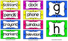 Classroom Labels Starter Kit! and Picture Directions {Freebie} - A Cupcake for the Teacher