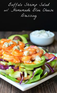 Buffalo Shrimp Salad