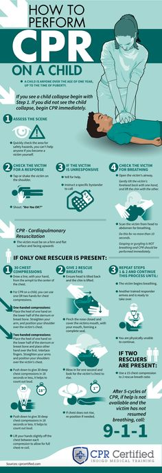How to Perform CPR on a Child - Infographic