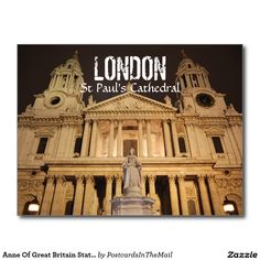 Anne Of Great Britain Statue, St Paul's Cathedral Postcard