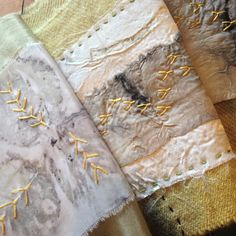Image of written in the cloth 6 - textile art by rita summers