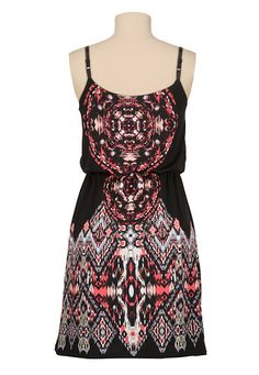 medallion print tank dress 10% Off Sitewide + Free Shipping On $50+ everdealz
