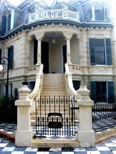 Victorian door in Galveston.