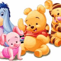 """Baby Winnie the Pooh and Friends. Baby Eeyore, Baby Piglet, Baby Pooh, and Baby Tigger. """"Winnie the Pooh and Friends"""" Disney Winnie The Pooh, Winnie The Pooh Pictures, Winne The Pooh, Winnie The Pooh Quotes, Winnie The Pooh Friends, Baby Quotes, Walt Disney, Mickey Mouse, Pooh Bebe"""