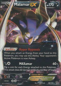 Malamar EX 58/119 - Pokemon XY Phantom Forces ULTRA RARE PREORDER SHIPS 11/9 #Pokemon