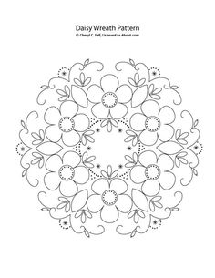 Surface Embroidered Daisy Wreath: Pattern for the Daisy Wreath