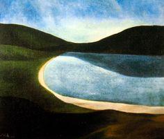 Colin McCahon - A Southern Landscape Abstract Landscape, Landscape Paintings, Landscapes, River Painting, New Zealand Art, Nz Art, Maori Art, Framed Wall Art, Art History