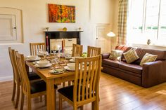 A perfect place for you family get togethers. We can seat 8 at our extending dining room table. Log Fires, Farm Cottage, Dining Room Table, Perfect Place, Table Settings, Fireplace Set, Wood Burning Fireplaces, Dining Table, Place Settings
