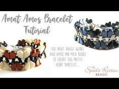 Amat Amos Right Angle Weave Bracelet Seed Bead Patterns, Beading Patterns, Stitch Patterns, Seed Bead Earrings, Beaded Earrings, Seed Beads, Right Angle Weave, Woven Bracelets, Native American Beading