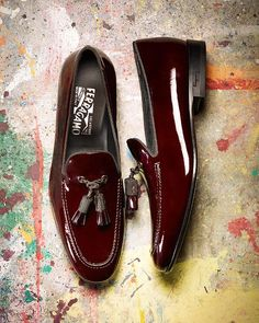 Patent-leather tassel loafers by Salvatore Ferragamo ($1,250)