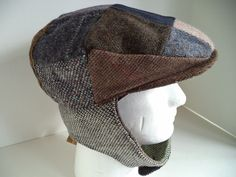 b52b6293ac9 New XL Irish Donegal tweed lugg cap patch Hanna Hat wool convertible Extra  Large  HannaHats