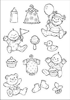 Ec0107 Eline's baby feest - Eline's Babies - Marianne Design Clear stamps - Hobbynu.nl
