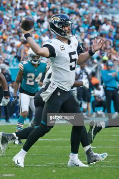 f70f57e713e Blake Bortles of the Jacksonville Jaguars throws the ball against the.