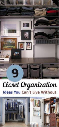 Closet organization, easy closet organization, small closet space, popular pin. DIY closet, DIY closet organization, life changing organization ideas.
