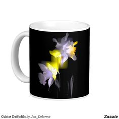 Cubist Daffodils Basic White Mug