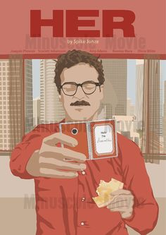Her Print Poster Spike Jonze A3 by MinusculeMotion on Etsy