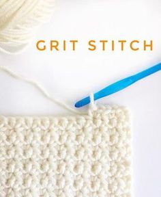 Crochet Stitches Patterns The grit stitch-not too flat, not to puffy, simple to do and turns the corners like a pro. The sides are straight! Okay, I've researched… - Knit Or Crochet, Learn To Crochet, Crochet Crafts, Crochet Baby, Crochet Projects, Crochet Tutorials, Single Crochet, Crochet Ideas, Crochet Dishcloths