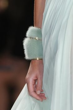 j.mendel s.s2013 rtw - Furry Bracelet!!! Love it!