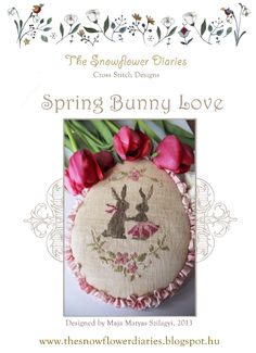 Spring Bunny Love - cross stitch pattern 1