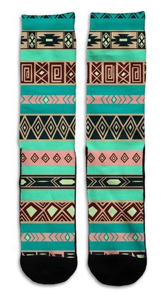 Aztec 2 Indian Style - Custom Elite Style Athletic Sport Socks Crew Athletic Sport, Sport Socks, Athletic Fashion, Indian Style, Indian Fashion, Aztec, Sports, Accessories, Hs Sports