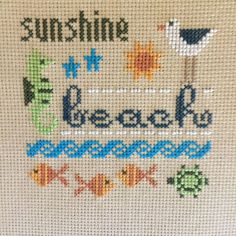completed finished cross stitch Lizzie Kate Summer Sunshine