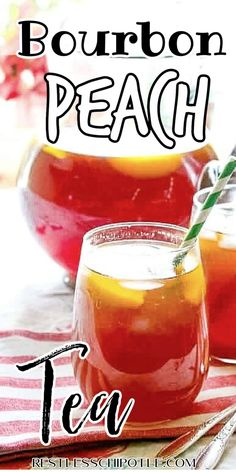 Bourbon Cocktails, Summer Cocktails, Cocktail Recipes, Sweet Tea Cocktail, Cocktail Mix, Peach Puree, Peach Schnapps, Ripe Peach, Thirsty Thursday