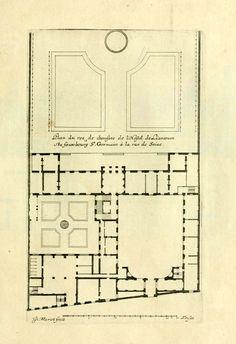 The floor plan of the Hôtel de Liancourt, Paris Architecture Plan, Building Plans, Belle Epoque, Rue, Facade, House Plans, Floor Plans, How To Plan, Mansions