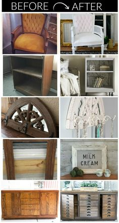 14 impressive ideas for turning secondhand finds into beautiful home decor. 14 impressive ideas for turning secondhand finds into beautiful home decor. Furniture Projects, Furniture Makeover, Home Projects, Diy Furniture, Furniture Refinishing, Antique Furniture, Bedroom Furniture, Repurposed Furniture, Painted Furniture