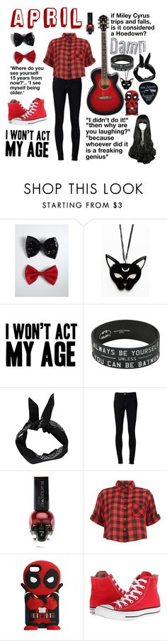 """""""WITH THE BAND: April~ acoustic guitar"""" by thatpastelgal ❤ liked on Polyvore featuring Cyrus, Torrid, Boohoo, Ström, Innocence, Converse and Floyd"""