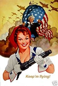 This poster shows a women being in the air force. This encouraged more and more women to join the U.S. military.