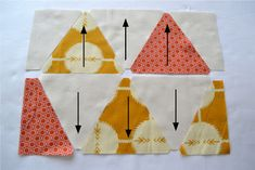 how to sew equilateral triangles