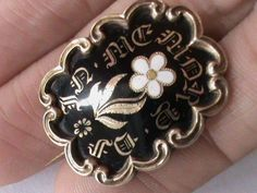 Georgian 15ct Gold Enamel Mourning Brooch Locket back  eBay