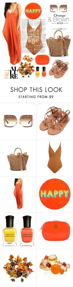 """""""happiness is key"""" by felicitysparks ❤ liked on Polyvore featuring Dita, Eres, Lisa Perry, Deborah Lippmann, Tory Burch, Improvements and Daria de Koning"""