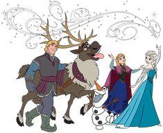 Frozen Group Clip Art