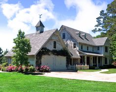 Amazing House in Nice Decoration System and Garden : Awesome Landscape View Cypress Springs Lake White Garage Shed Door
