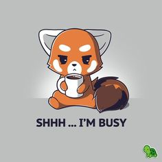Busy ignoring you… 😒This NEW shirt is off now! Busy ignoring you… 😒This NEW shirt is off now! Cute Cartoon Drawings, Cute Cartoon Animals, Cute Animal Drawings, Anime Animals, Kawaii Drawings, Cute Baby Animals, Red Panda Cartoon, Cute Animal Quotes, Dibujos Cute