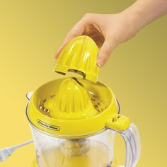 Proctor Silex Alex's Lemonade Stand Citrus Juicer Machine and Squeezer 34 oz, Yellow Fruit Juicer, Citrus Juicer, Fruit Juice Image, Palm Tree Fruit, Juicer Reviews, Manual Juicer, Electric Juicer, Juicer Machine, Homemade Dressing