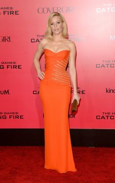 The Catching Fire Cast Gets Lots of Love at Its LA Premiere: Elizabeth Banks wore a sexy, strapless gown.