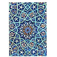 Persian Tile Tea Towel by Anna Chandler