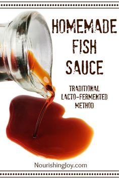 Homemade Fish Sauce | NourishingJoy.com