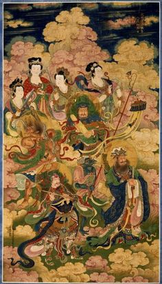 The Eight Hosts of Celestial Nagas and Yakshis, 1454 China, Ming dynasty… Chinese Buddhism, Buddhist Art, Lotus Sutra, Art Chinois, Asian Art Museum, Chinese Mythology, Cleveland Museum Of Art, China Art, Chinese Culture