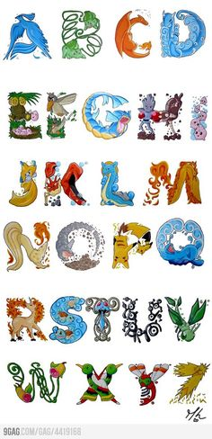 Cute Alphabet. Do you recognized all letters?