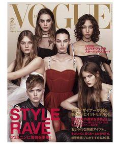 Odette Pavlova, Vittoria Ceretti, Yasmin Wijnaldum, Faretta, Ruth Bell & Agnes Akerlund for Vogue Japan February 2017